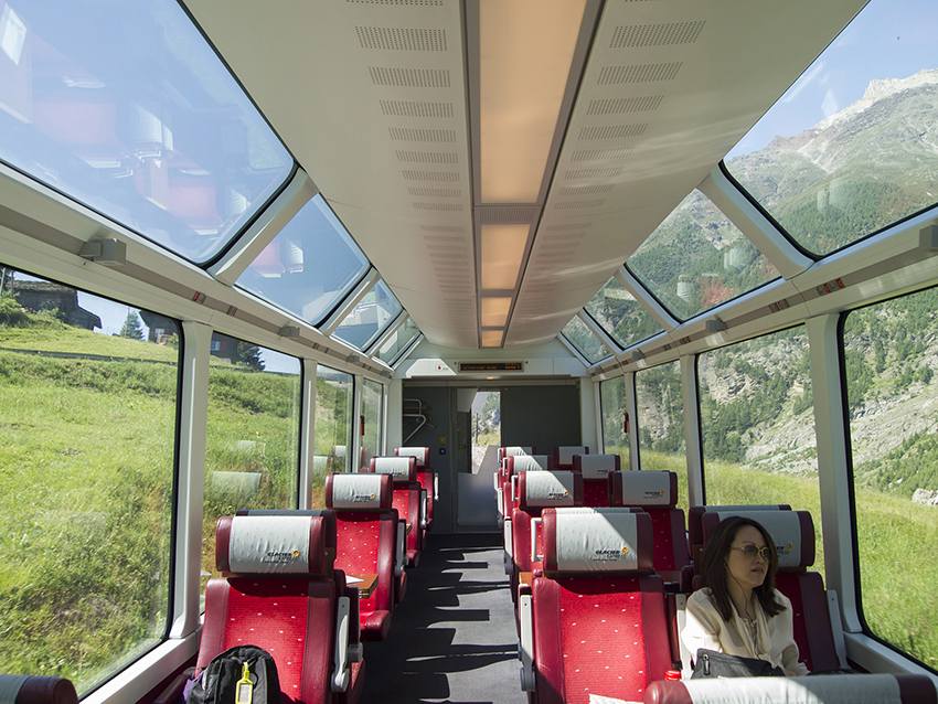 Interior Of Glacier Express Train.